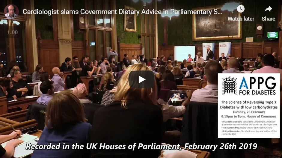 Cardiologist Slams Government Dietary Advice In Parliament