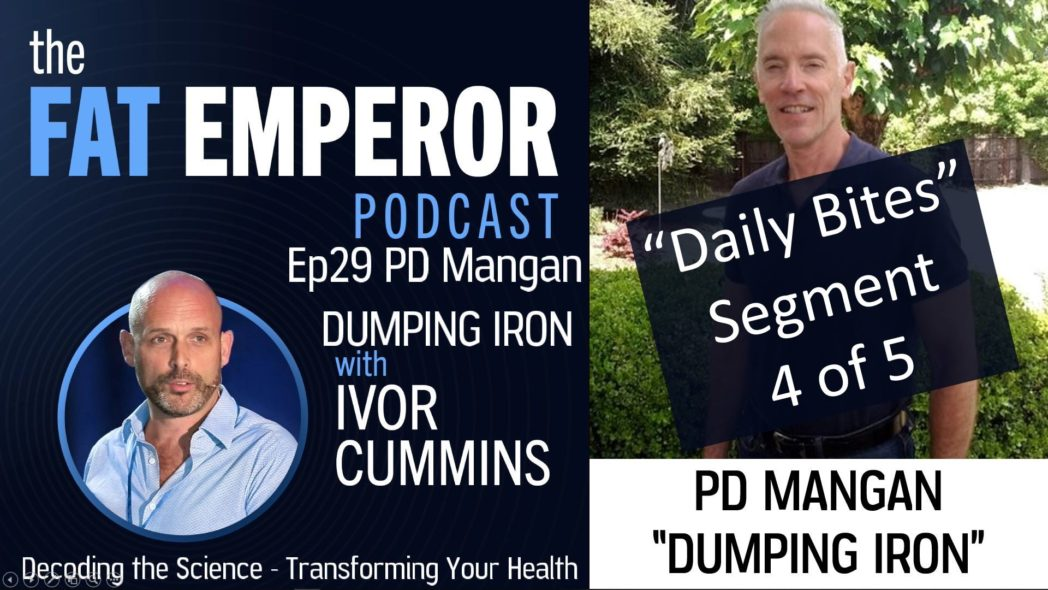 Podcast Bites Ep29 4 of 5 - PD Mangan On Iron and Premature Death - Watch Your Ferritin