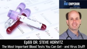 Ep 69 Dr. Steven Horvitz - The Most Important Blood Tests You Can Get - and Virus Stuff