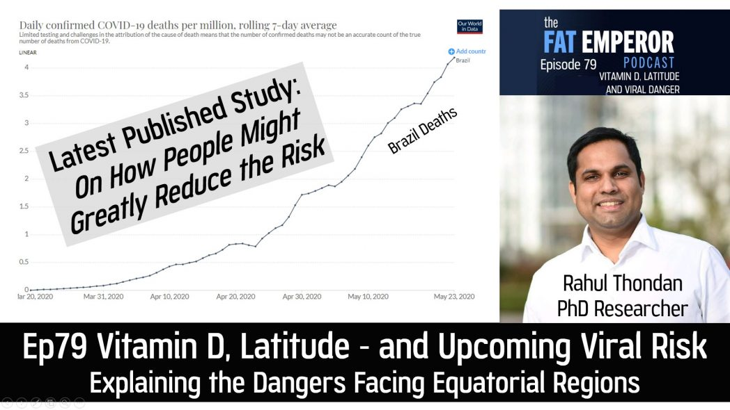Ep79 New Study on Vitamin D, UV and Latitude - Powerful Effects on Viral Dangers